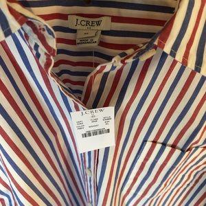 NWT Preppy JCrew  Shirt XL Red & Blue Stripes